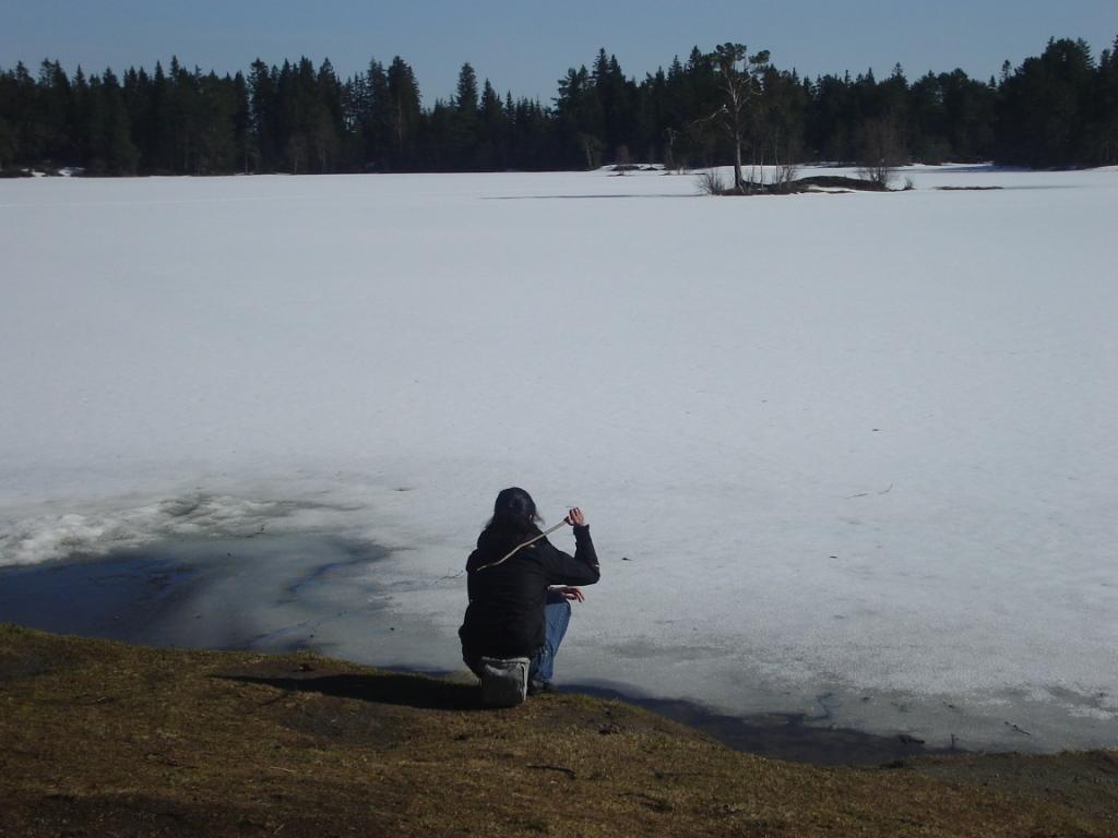trondheim frozen lake